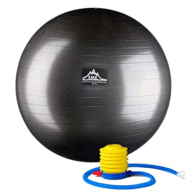 Black Mountain Products Professional Grade Stability Ball 1000lbs Anti-Burst 2000lbs Static Weight Rated