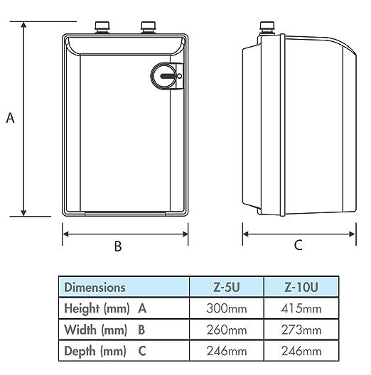 10L 2kW debajo del fregadero calentador de agua por ATC - 3 fregaderos: Amazon.es: Bricolaje y herramientas