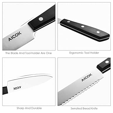 Amazon.com: Aicok profesional Cuchillo Block Set: BestKitchens