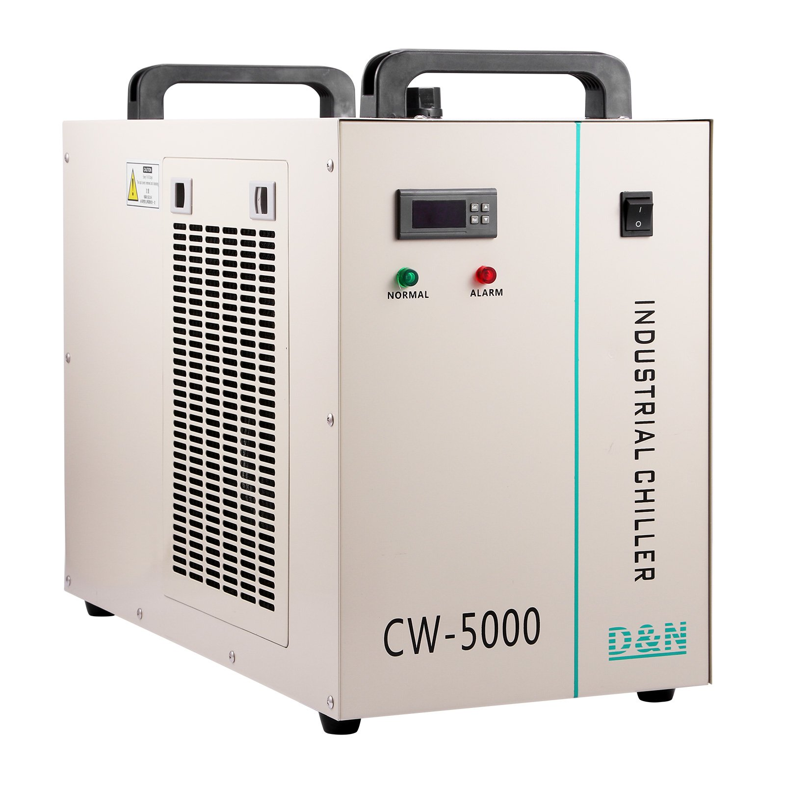 BestEquip 800W Industrial Chiller CW-5000DG 6L Capacity Water Chiller Thermolysis Industrial Water Chiller Machine for 80/100W CO2 Glass Tube (CW-5000DG 800W 6L Capacity)
