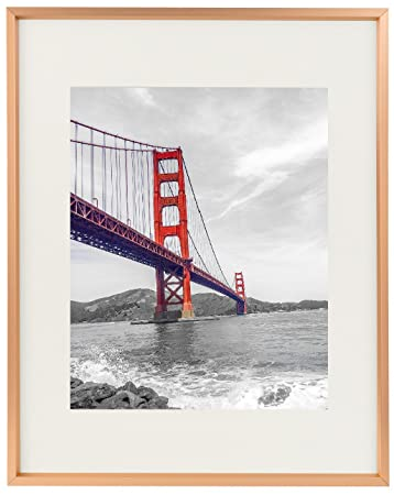 Amazoncom Frametory 11x14 Aluminum Rose Gold Photo Frame With
