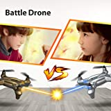 Nano Battle Drones for Kids Beginners ,Lefant Best Small RC Drone with Infrared Fighting Emission with Controller Altitude Hold,Headless Mode 3D Flip 2.4GHz Remote Control Quadcopter-Pack of 2