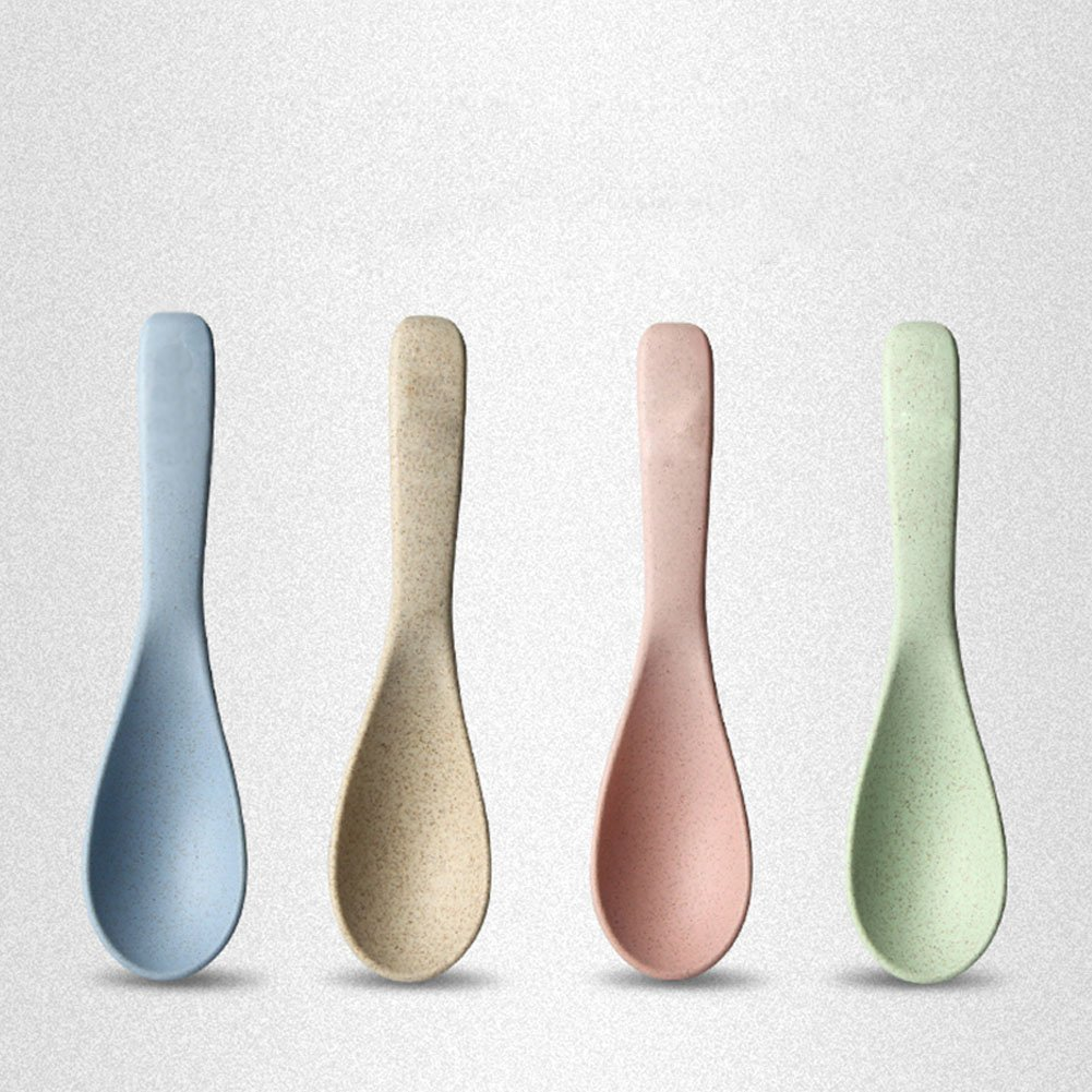 qiansheng 4 pcs natural color sólido Nordic estilo paja de trigo ...