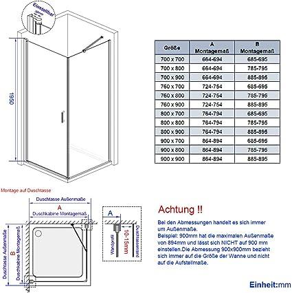 Puerta de Ducha, mampara de Ducha, Puerta corredera con nanorevestimiento, 76 x 70 x 195 cm: Amazon.es: Hogar