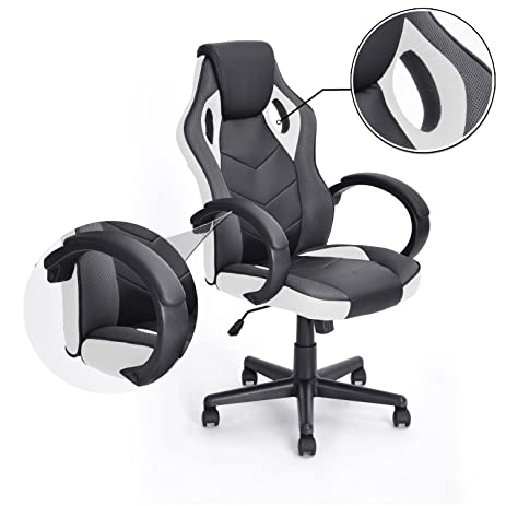 computer gaming racing chair coavas office high back pu leather computer chair executive swivel task desk