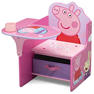 Delta Children Chair Desk with Storage Bin - Ideal for Arts & Crafts, Snack Time, Homeschooling, Homework & More, Peppa Pig