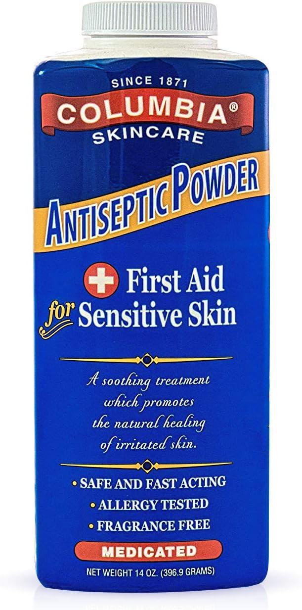 Columbia Skincare Medicated Antiseptic Powder for Sensitive Skin (14 oz)