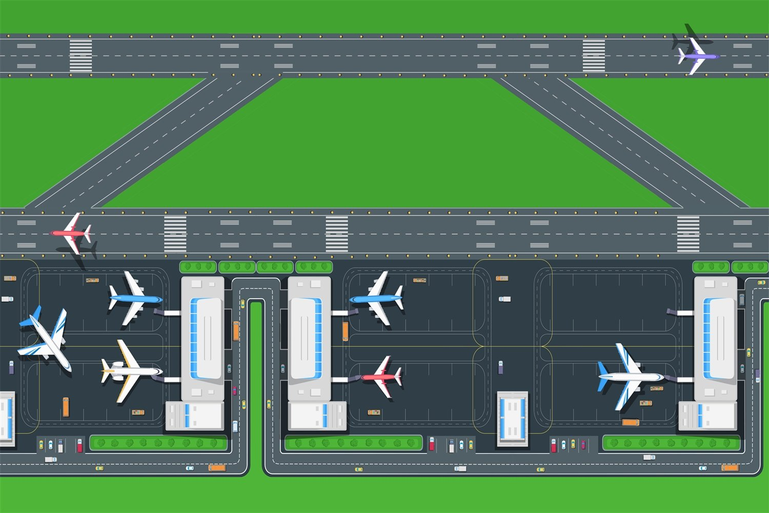 Be-Active Giant New Airport & Runway Playmat - A fun addition to the bedroom, nursery or classroom (150 x 100cm) SPO