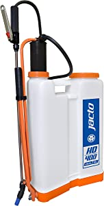 Jacto HD400 W/O Backpack Sprayer, Professional Garden Sprayer, Perfect for Pesticide Control, Translucent White