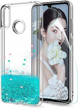 LeYi Funda Huawei Y7 2019 Silicona Purpurina Carcasa con HD ...