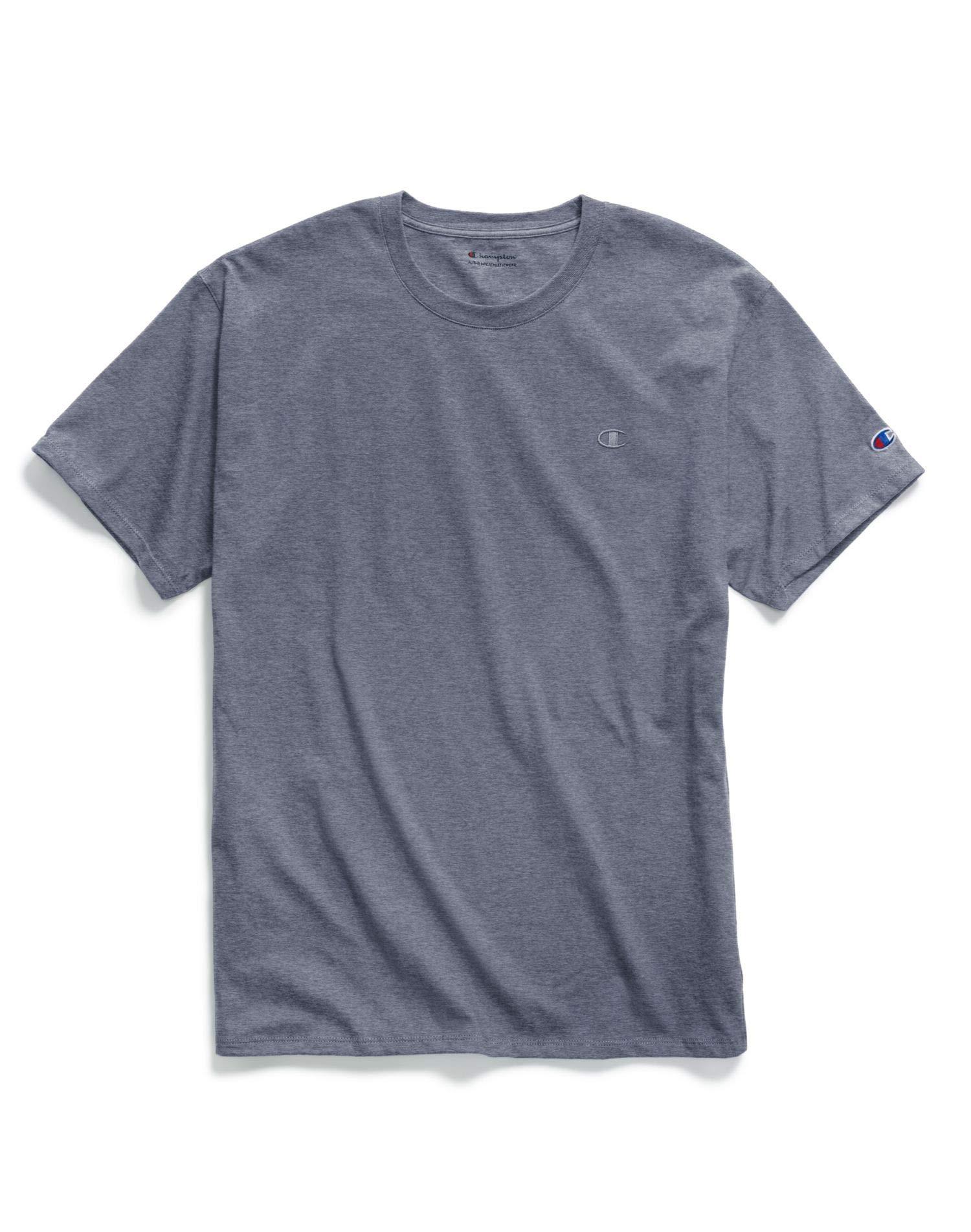Champion Men's Classic Jersey T-Shirt, Imperial Indigo Heather X-Large