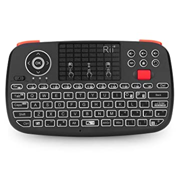 ed621529f06 Rii i8 Multifunction 2.4 GHz RF Portable Mini Wireless Keyboard with  Touchpad Mouse - Black