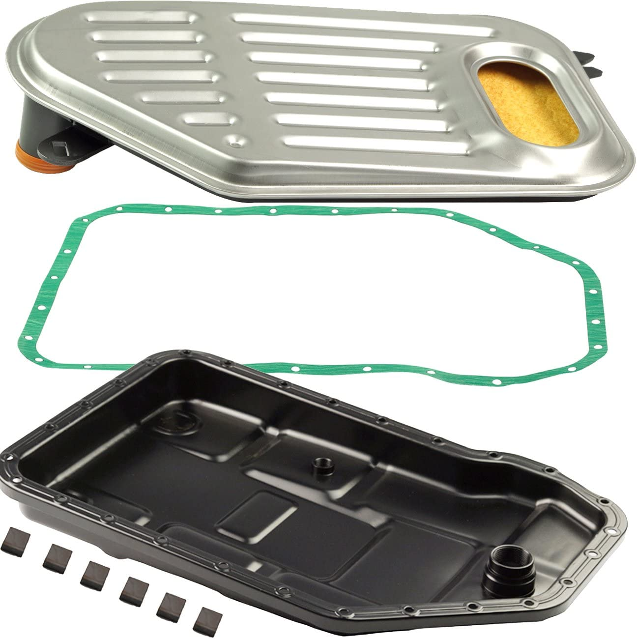 Bapmic Auto Transmission Oil Pan + Filter + Gasket Kit for Volkswagen Passat Audi A4 A6 A8