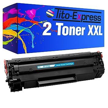 PlatinumSerie® 2 Cartuchos de tóner Compatible con HP CF279A Color ...