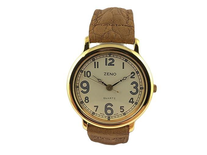 Reloj Suiza Zeno, estilo antiguo, Design, Mode, caja chapado en oro