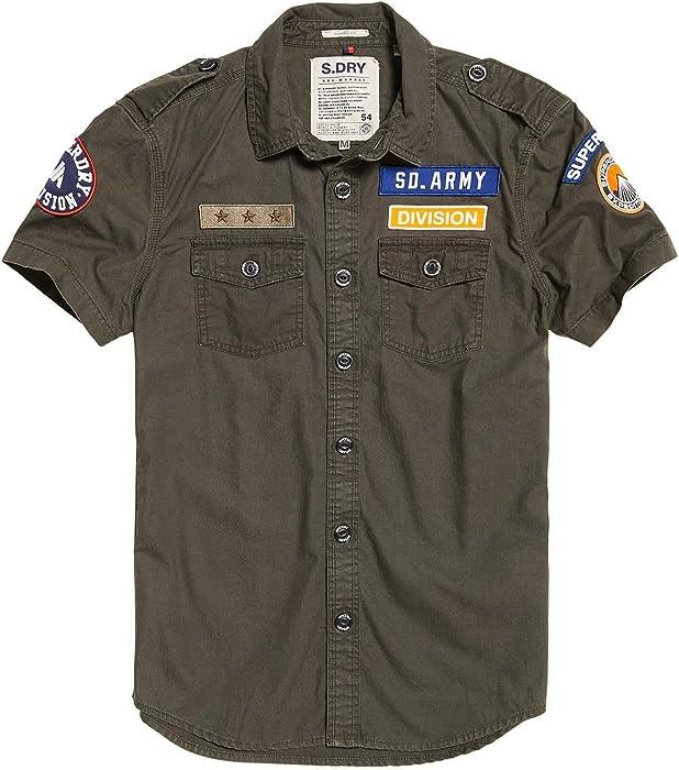 4d2e342378 Superdry Camisas M40002EQ KW2 Army Corps  Amazon.es  Ropa y accesorios