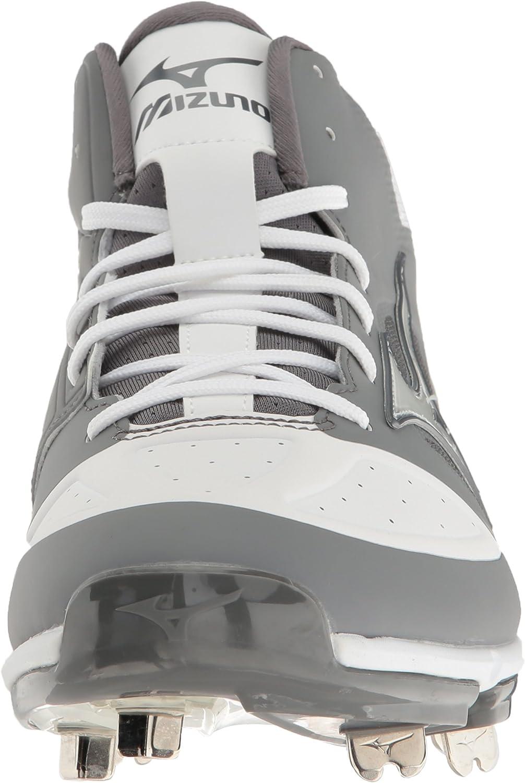 Details about  /Mizuno Men/'s Dominant Mid Grey//White Baseball Shoe Choose SZ//color