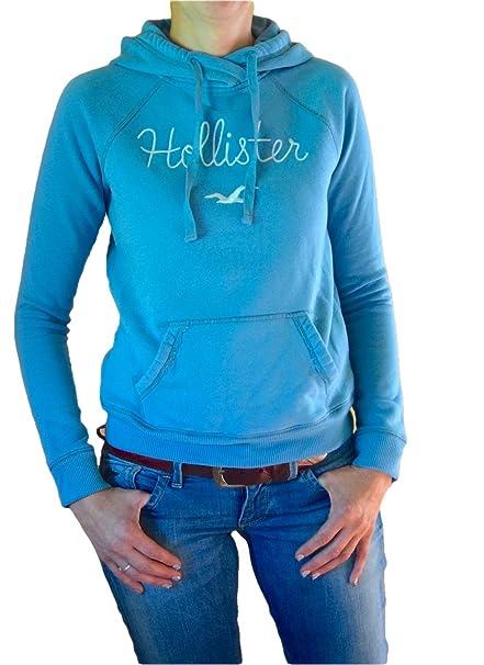Hollister - Sudadera con capucha - para mujer azul claro Small: Amazon.es: Ropa y accesorios