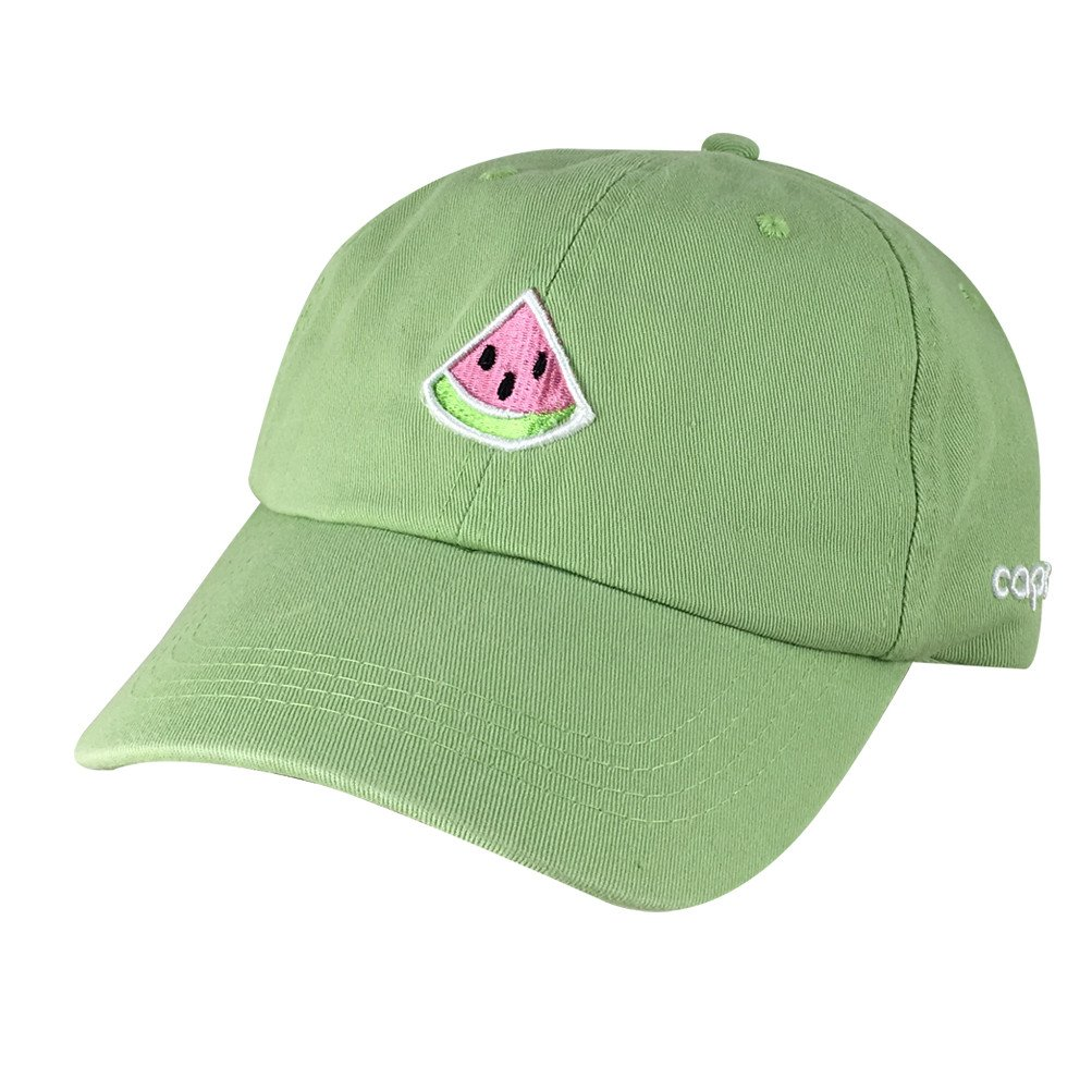 3f686938184 Emoji 3D Watermelon Unstructured Adjustable Dad Hat Cap - Lime Green at  Amazon Women s Clothing store