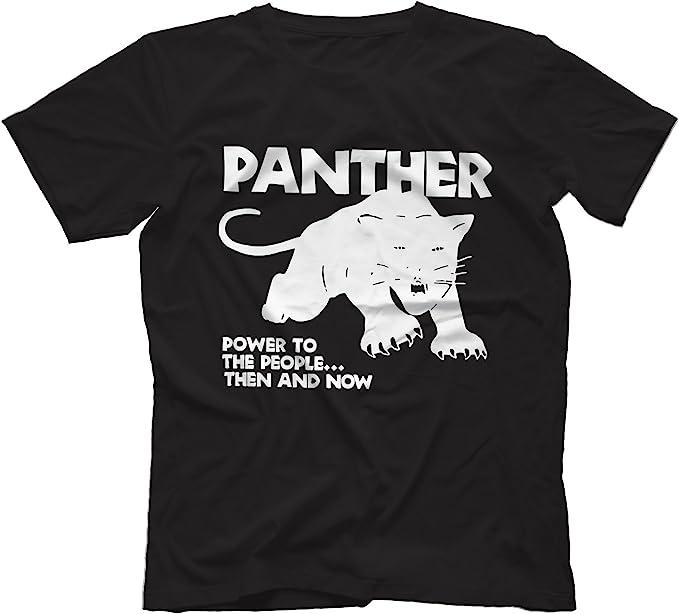 Black Panther Party Power T Shirt Light Blue