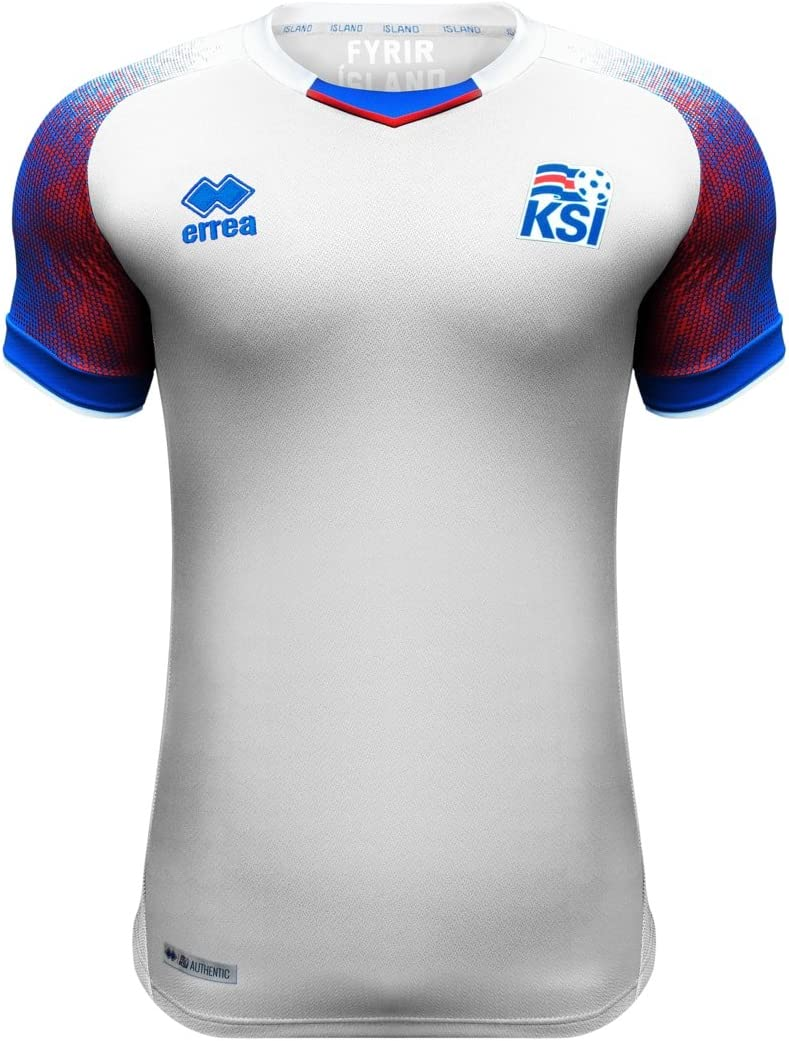Errea Iceland Away Soccer Men's Jersey- World Cup Russia 2018