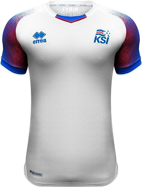 Errea Hombre Island Away visitante. WM 2018 Camiseta de fútbol, Hombre, SMKI6C05130IN, Weiß/Azur/Rot, Large: Amazon.es: Deportes y aire libre