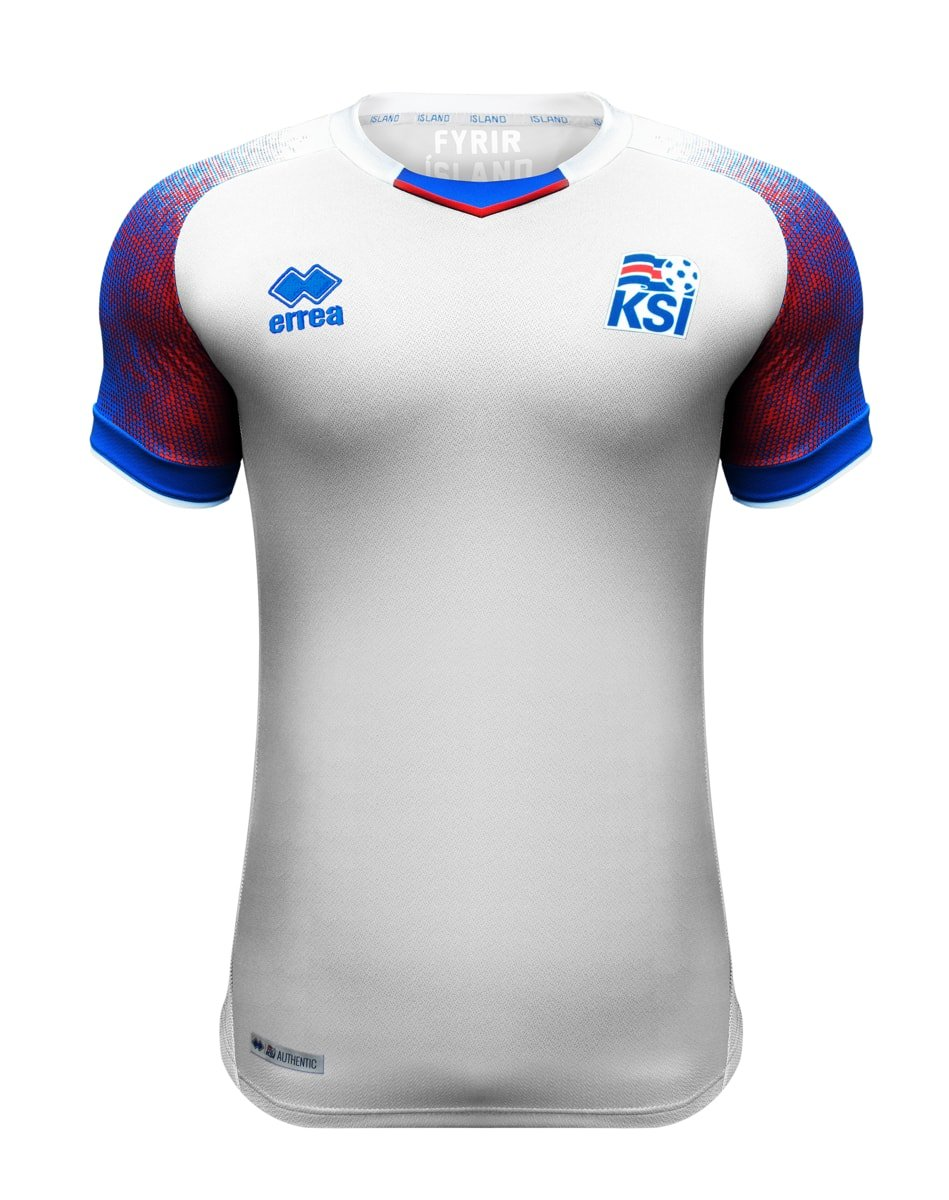 2018-2019 Iceland Away Errea Football Shirt B07BHJVMBLWhite XL Adults
