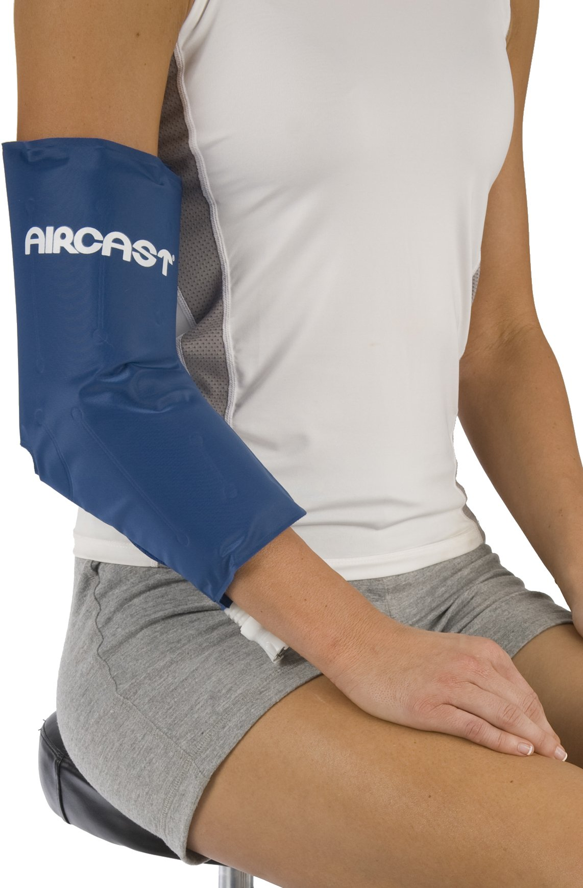 Aircast Cryo/Cuff Cold Therapy: Elbow Cryo/Cuff with Non-Motorized (Gravity-Fed) Cooler, One Size Fits Most by DonJoy