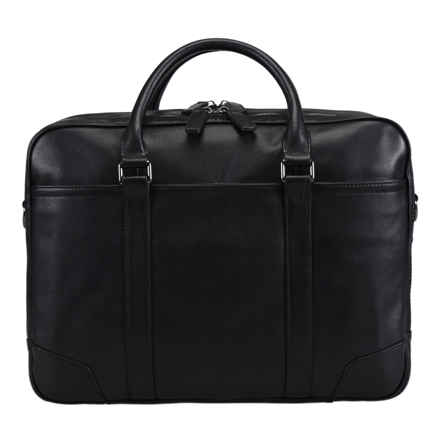 Polare Soft Real Leather Double zipper Laptop Computer 15'' Briefcase Business Bag by Polare (Image #8)