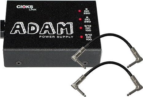 Patch Cables Cioks DC5 Link Guitar Effects Pedal 9V 12V Power Supply w// Flex