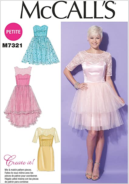 McCalls Sewing Pattern M7321 Misses/'//Miss Petite Sweetheart-Neckline Dresses