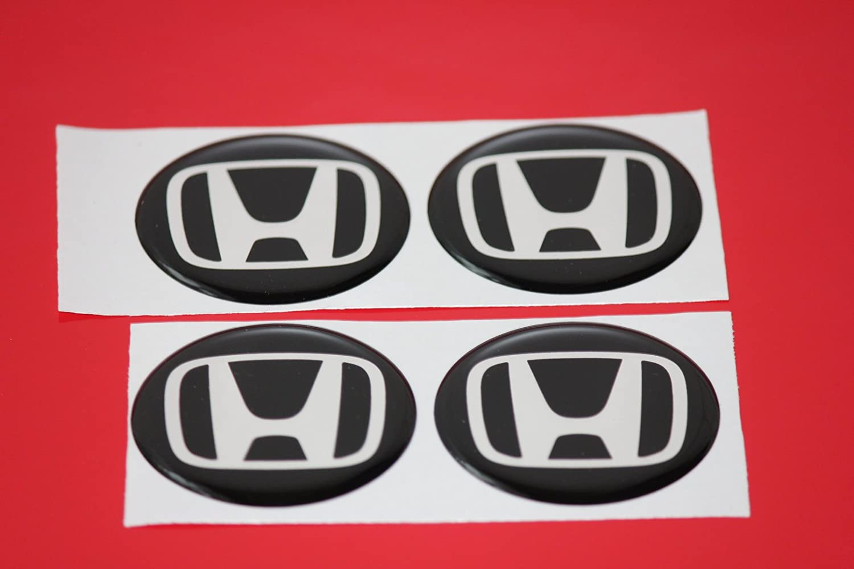 4 x Honda Emblema Llantas Logo Buje Tapa Buje Tapa Tapacubo ...