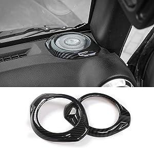RT-TCZ Speaker Trim Cover A Pillar Cover Trim for Jeep Wrangler Accessories ABS Trim Decor for Jeep Wrangler JK JKU 2015 2016 2017
