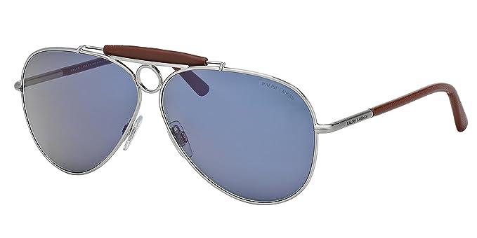 Ralph Lauren POLO PH3091Q Gafas de sol, plateado cepillado ...
