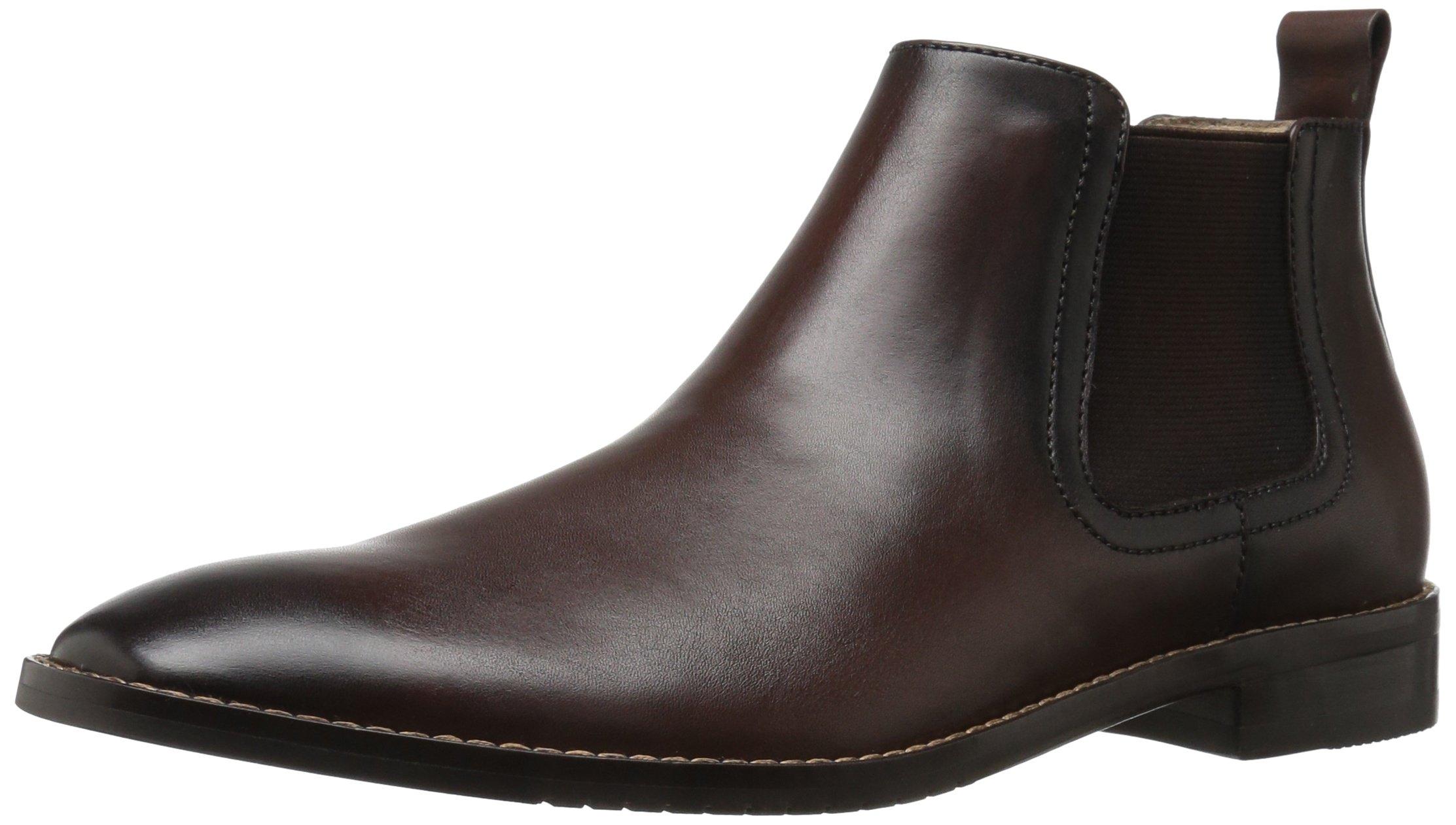 206 Collective Men's Capitol Ankle Chelsea Boot, Cognac, 12.5 D US