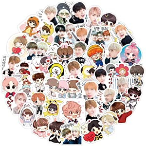 BTS Stickers,Kpop Stickers 80Pcs Cut Waterpoof Vinyl Decals for Laptop Luggage Bedroom Computer iPhone Car Bike for Kid Girls and Boys
