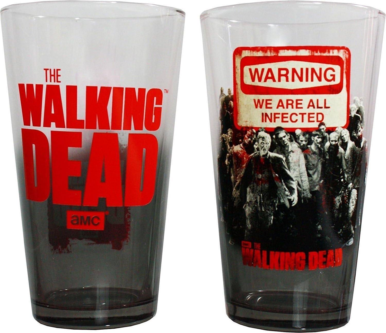Halloween 2020 Pint Glass Amc Amazon.  AMC The Walking Dead Warning 2pk Zombie Pint Glasses