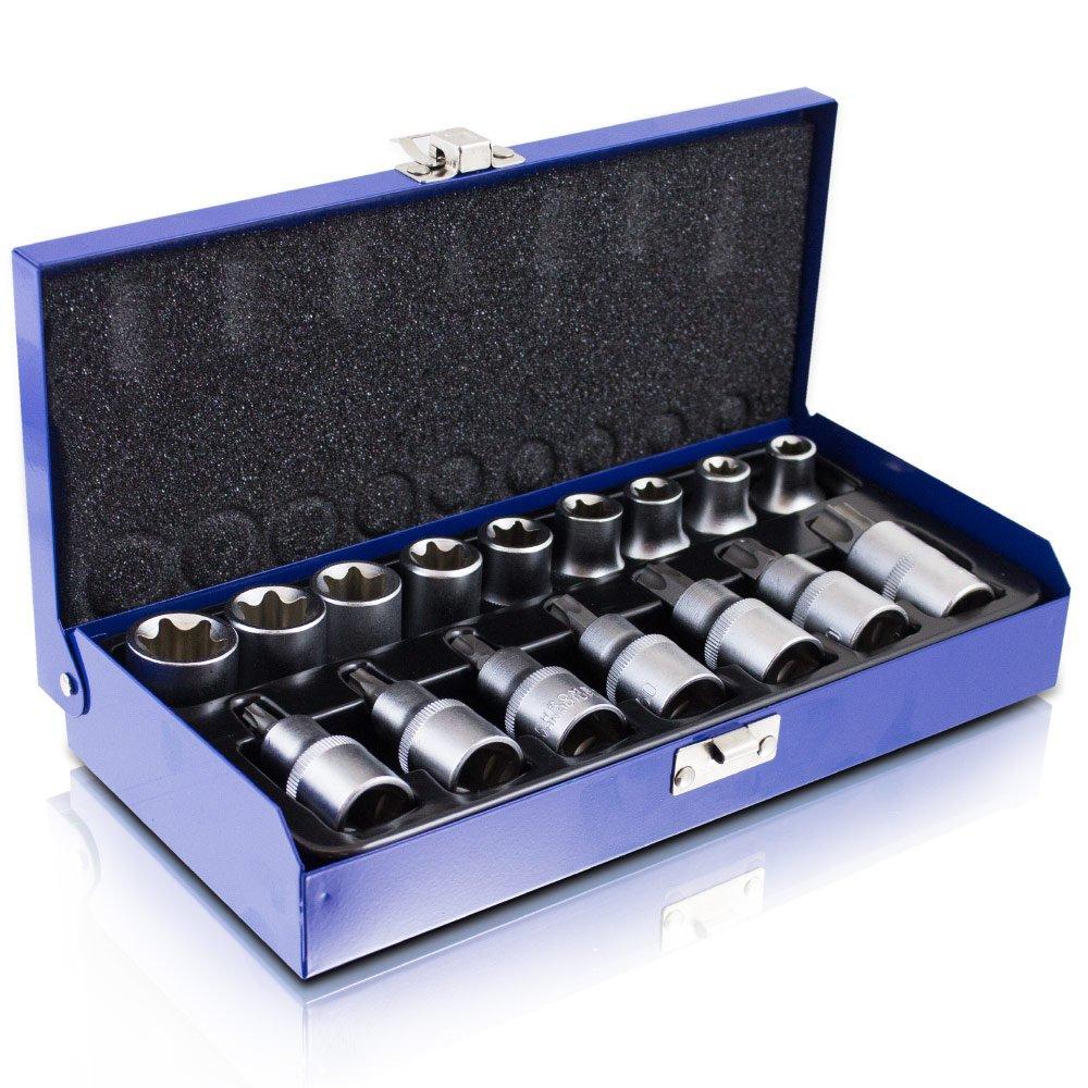 Nussatz 16pièces Torx Allen Set d'outils à dents beaucoup intérieur imbus Bit Douilles MS-Point