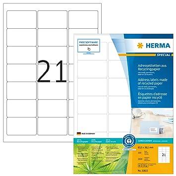 Herma 10822 Recycling Adressetiketten Aus 100 Altpapier