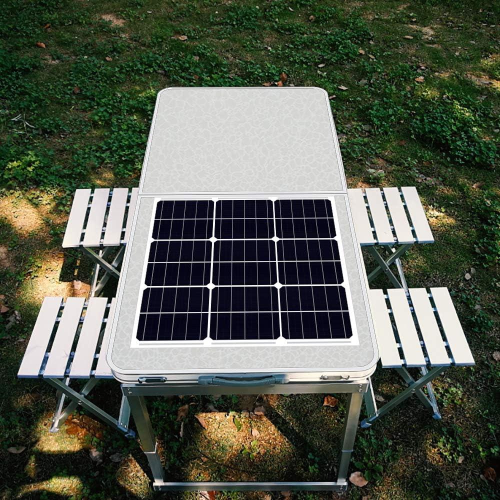 ECO-WORTHY Kit de Panel Solar portátil Plegable de 12 voltios, Cargador de batería para Maleta Solar, 40 W, 80 W, 100 W, 120 W, Cargador Solar RV: Amazon.es: Jardín