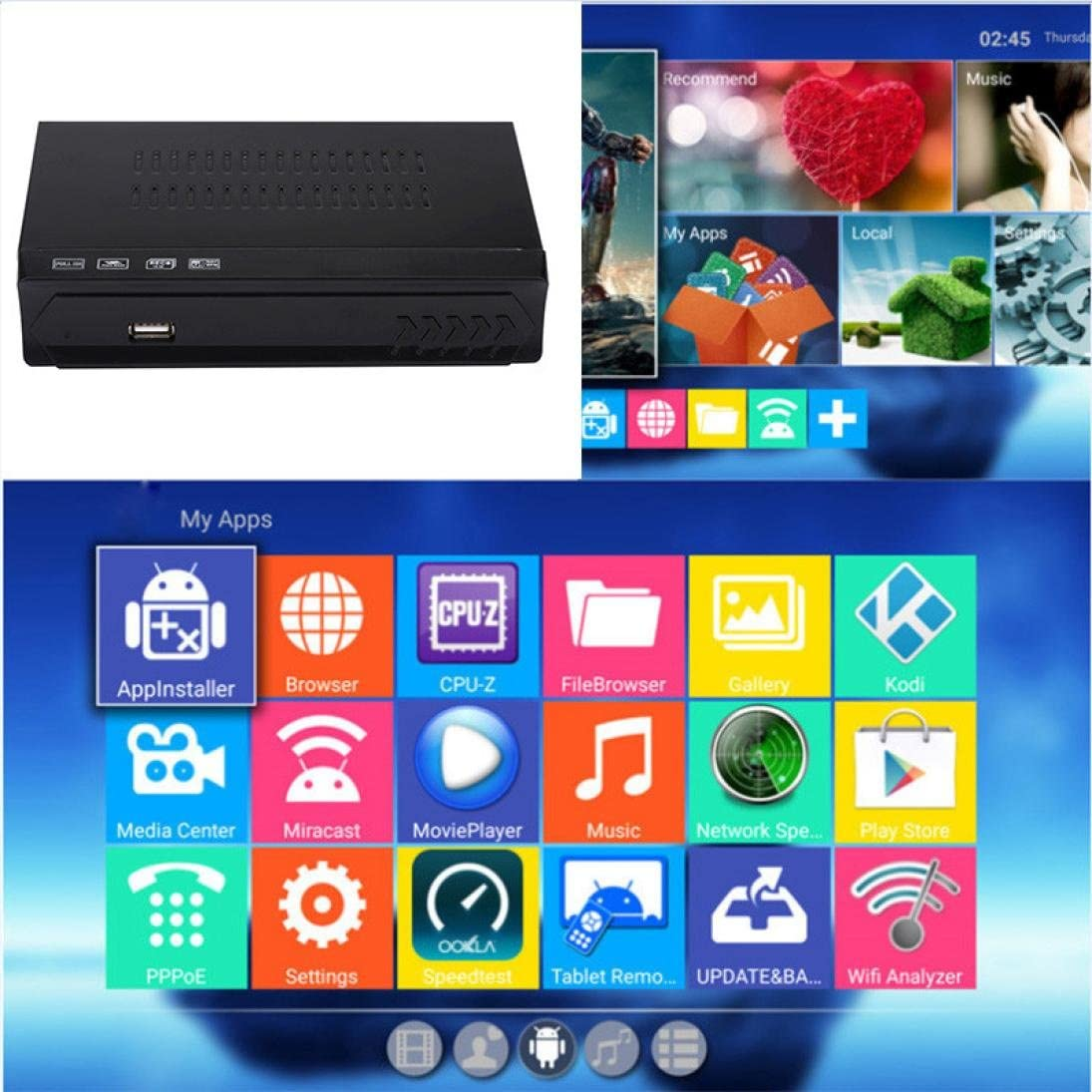 Wifi LAN Smart TV Box, Digital Satellite + WiFi IPTV receptor ...
