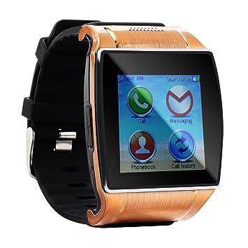 Tera upro2 Pulsera Reloj Inteligente GSM Bluetooth con Pantlla Táctil compatible con Smartphone Móvil iOS iPhone, Android Samsung Anti Perderse Selfie ...