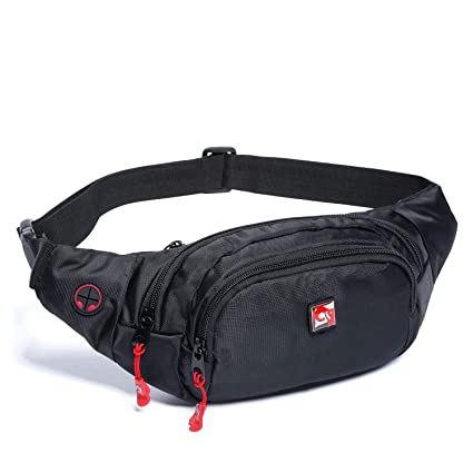 a4800e31cebb HAWXUNG Fanny Packs Waist Bag for Men and Women Waterproof Hip Bum Bag with  Adjustable Strap for Sports Outdoors Workout Traveling Casual Running ...