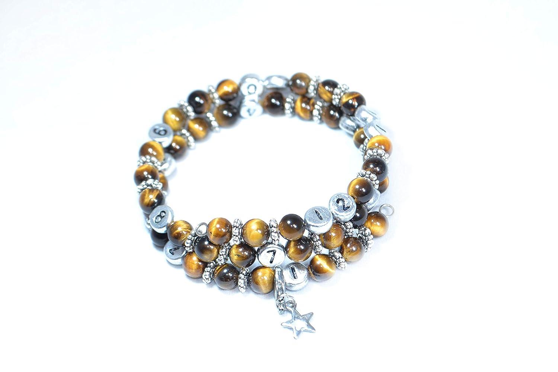 conception Fran/çaise litoth/érapie Bracelet dallaitement Oeil du tigre perles en pierres naturelles fonction horloge