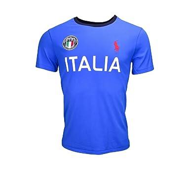 ebf99dc658b77 RALPH LAUREN - T-shirt Ralph Lauren Italie JO 2016 bleu pour homme - Bleu