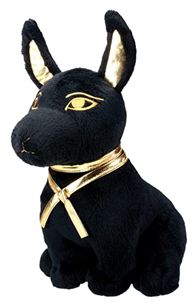 Black And Gold Anubis Dog Puppy Egyptian Stuffed Plush Doll by Summit Collection