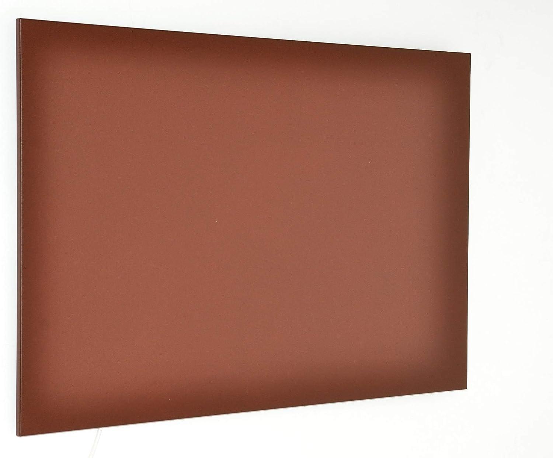 Warmset Panel calefactore Eléctrico por infrarrojo, Calefacción por Infrarrojos, ultraplano, calefacción de Pared, Fuente de Calefacción - Placa Radiante Bajo Consumo en Hierro (Corten)