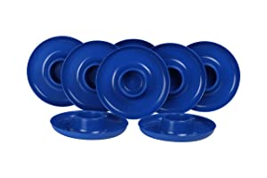 GreatPlate GP-BLU-8PK AZ Blue Plate 8-Pack, 8 Blue GreatPlates, Food Tray and Beverage Holder, Dishwasher Safe, Microwave Safe, Made in USA, Picnics, Parties, Tailgates, Appetizers, Great for Kids