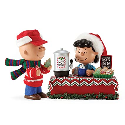 department 56 possible dreams peanuts christmas treats clothtique christmas figurine lucy charlie - Department 56 Peanuts Christmas