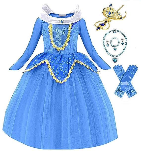 Amazon.com: Disfraz de princesa durmiendo belleza Aurora ...
